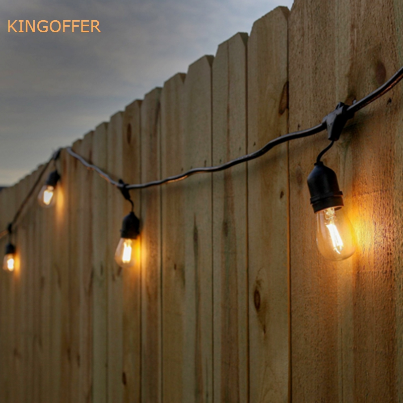 Indooroutdoor waterproof 10m 10led commercial grade string lights indooroutdoor waterproof 10m 10led commercial grade string lights e26e27 street garden patio backyard holiday strings lights in holiday lighting from aloadofball Images