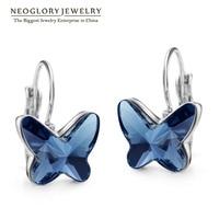 Neoglory Austrian Crystal Women Drop Earrings Jewelry 2017 New Butterfly Designer Trendy Fashion Birthday JS6 But-g JS9