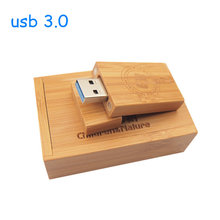 Custom LOGO Natural Wooden USB flash drive pen drive wood+gift box pendrive 8GB 16GB 32GB wedding gifts (over 10 Pcs Free Logo)