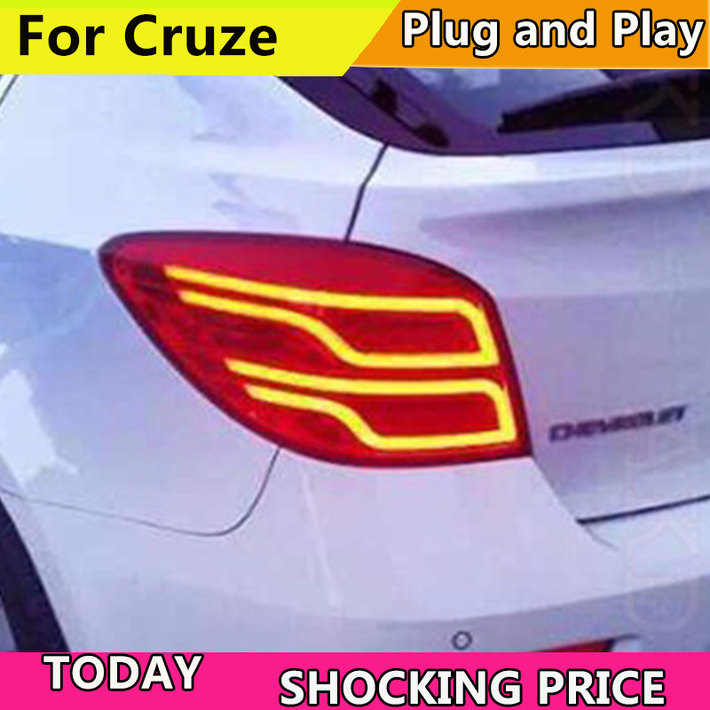 Car Styling for Chevrolet Cruze Tail Lights Cruze Hatch Back LED Tail Light LED Rear Lamp DRL+Brake+Park+Signal car styling taillight accessories for chevrolet cruze tail lights 2009 2014 led tail light rear lamp drl brake park signal
