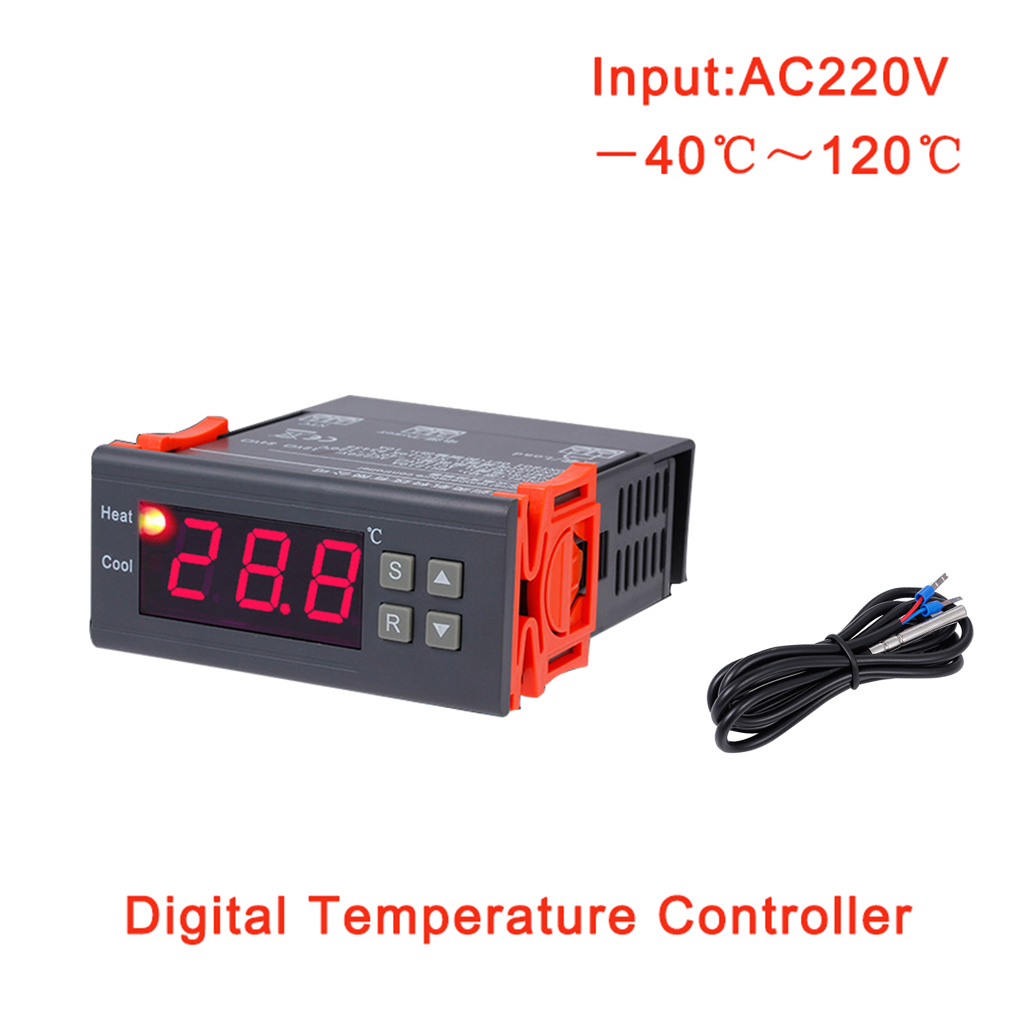 MH1210A AC220V Intelligent Digital Thermostat Electronic Temperature Control Table Refrigeration Heating Controller цена