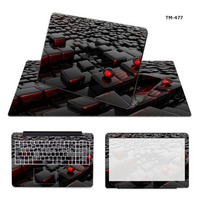 3 Sides Laptop Skin Notebook Sticker Computer Protection Decal With 570 330mm Mouse Pad Mat For