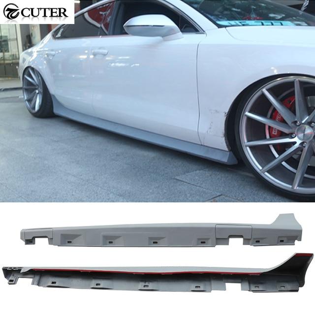 A7 Rs7 Stile Dellunità Di Elaborazione Di Auto Minigonne Laterali