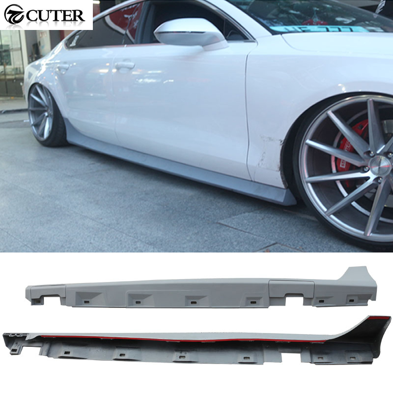 Audi Rs7 2011 >> A7 RS7 Style PU Auto side skirts body kit For Audi A7 RS7 2011 2014-in Body Kits from ...