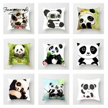 Fuwatacchi Animals Panda Cushion Cover For Sofa Home Decor Cute Pandas Pillow Car Room Decorative Pillowcase