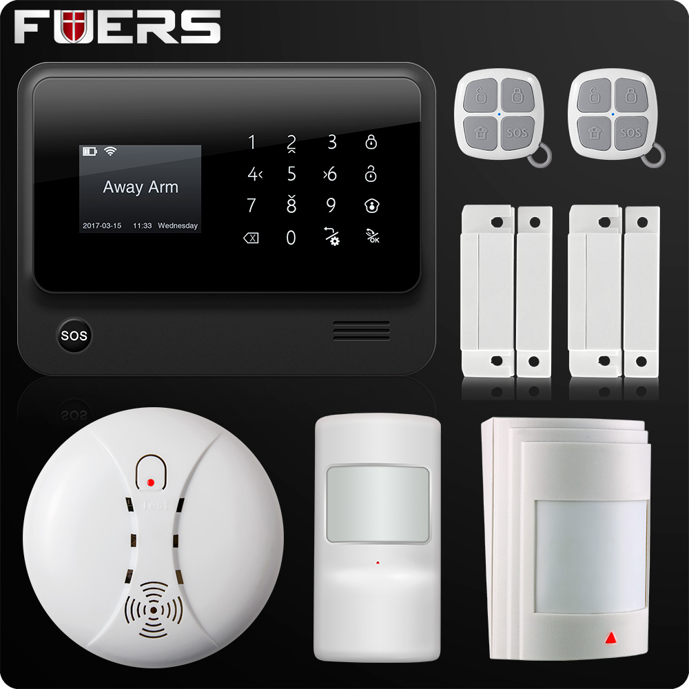 G90B Plus 2.4G WiFi GSM GPRS SMS Wireless Wired Home Security Alarm System IOS Android APP Remote Control Detector Sensor цена и фото