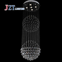 Z Lamps Air Double Entry Building DropLight Double Ball Stair Crystalline Light Creative Bar Hotel LED