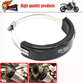 Motorcycle Accessories Oval Exhaust Protector Can Cover fits For Yamaha T MAX T-max 500 2002 2003 2004 2005 2006 2007