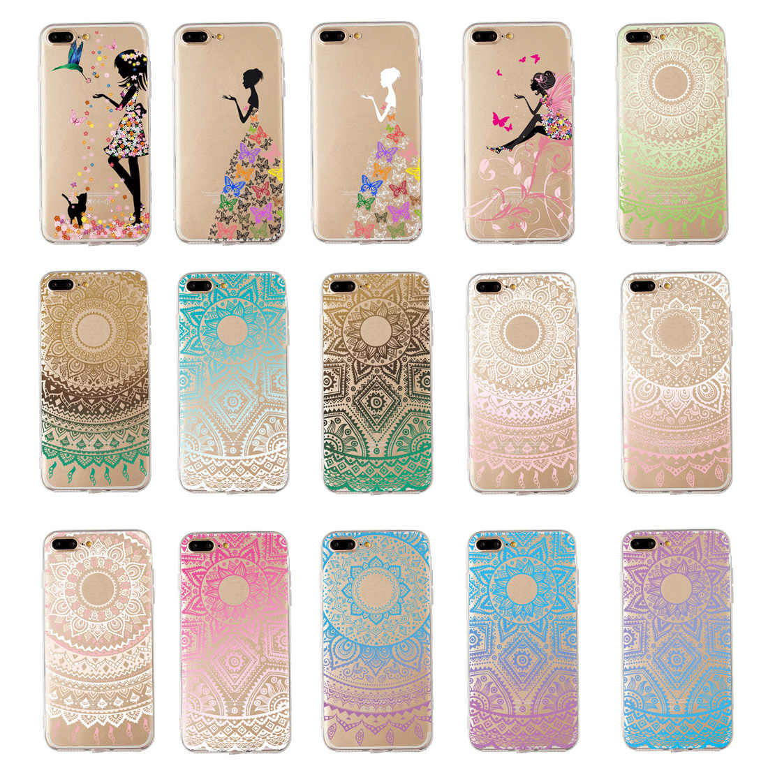 New Fashion Painted Embossed Phone Case For iphone6/6s iphone6plus/6splus iphone7 iphone7plus iphoneX iphone8 iphone8plus