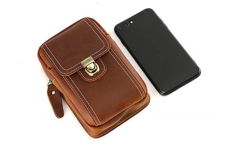 4-6 ''universel téléphones mobiles pochette fermetures à glissière portefeuille étui ceinture pince sac pour smartphone taille ceinture pochette étui téléphone portable sac - 5