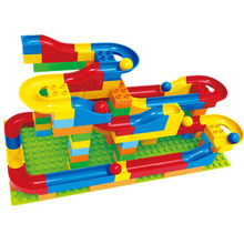 123pcs+ Crazy Fun Rolling Ball Building Blocks Set Marble Run DIY Toys for Children Compatible with DUPLOED