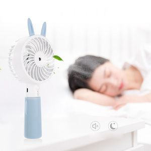 Image 4 - Lindo Oreja de Gato portátil USB recargable refrigerador Mini ventilador de refrigeración práctico escritorio bolsillo agua niebla refrigeración aire humidificador ventilador