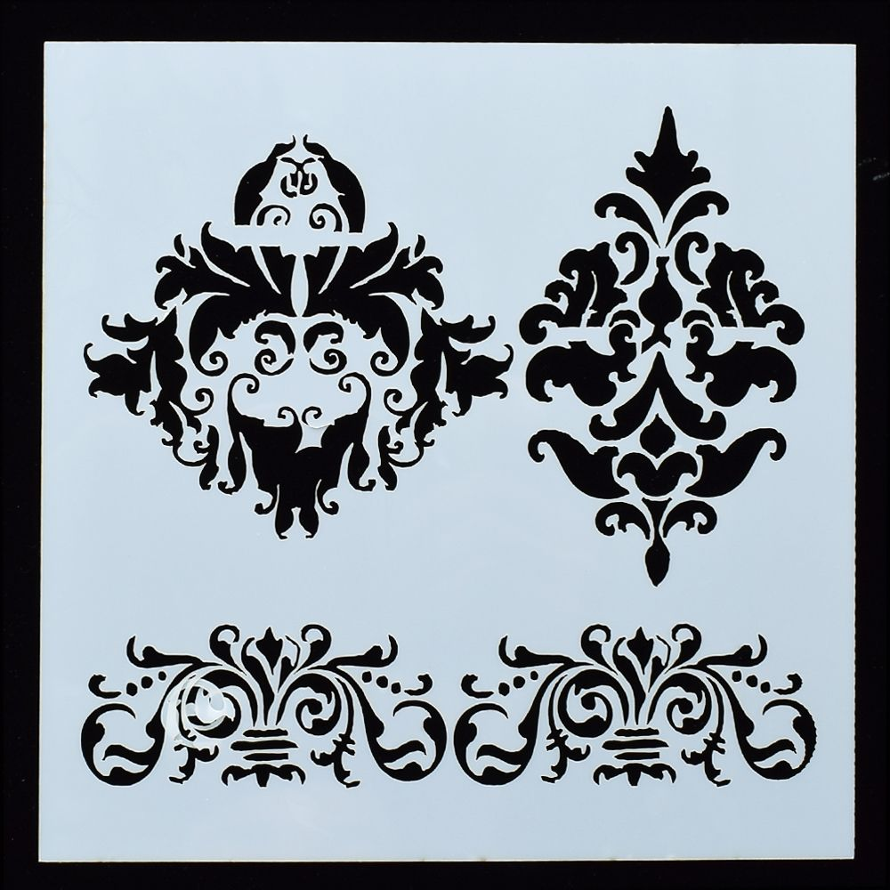 1PC CROWN Flower Shaped Reusable Stencil Airbrush Painting Art DIY Home Decor Scrap Booking Album Crafts Free Shipping