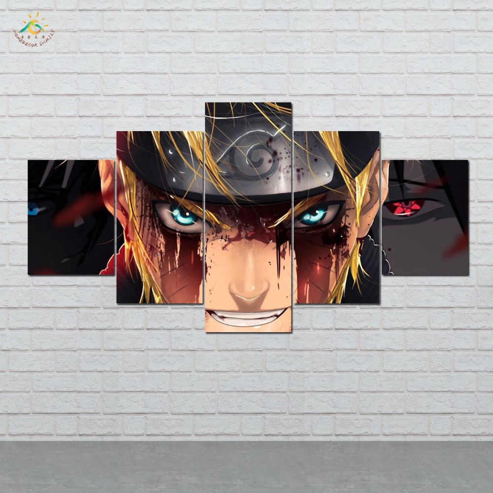 Naruto Modern Wall Art Pictures HD Printed Canvas Painting Modular Paints Home Decoration