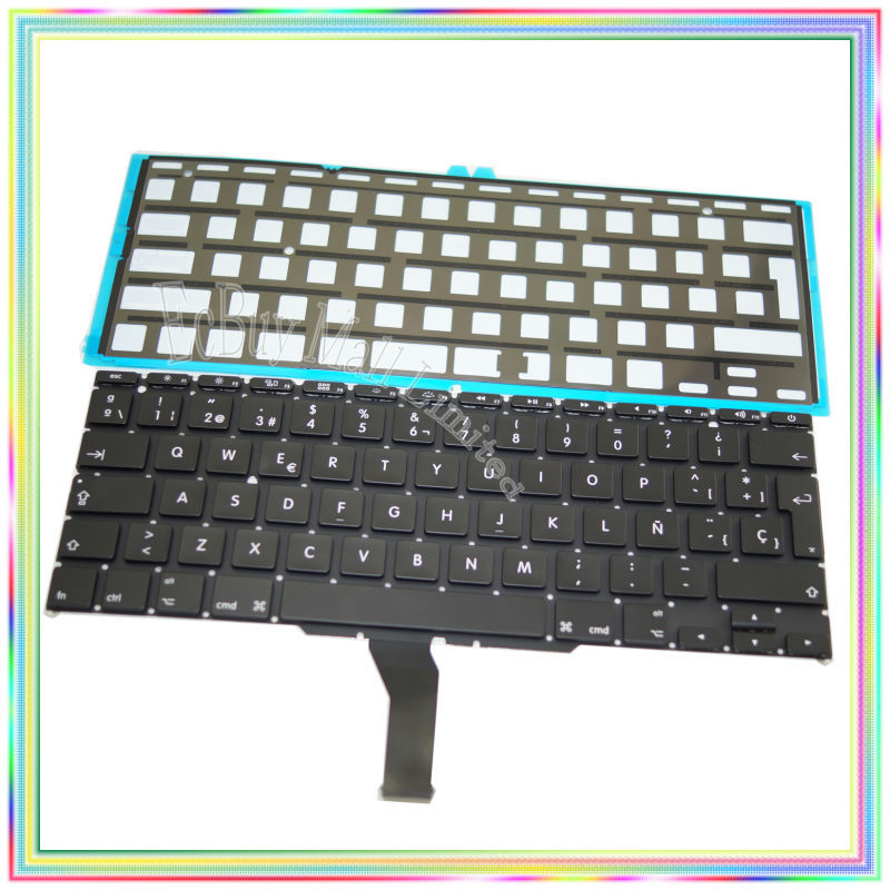 цена на Brand new Spanish SP Keyboard with Backlight for Macbook Air 11.6 A1370 A1465 2011-2015 Years