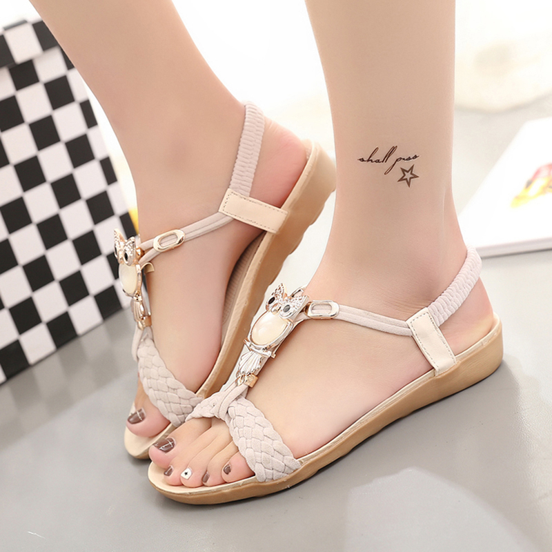 Women Sandals 2018 Womens Summer Sandals Shoes Peep-toe Low Shoes Roman Sandals Ladies Flip Flops Sandalia Feminina