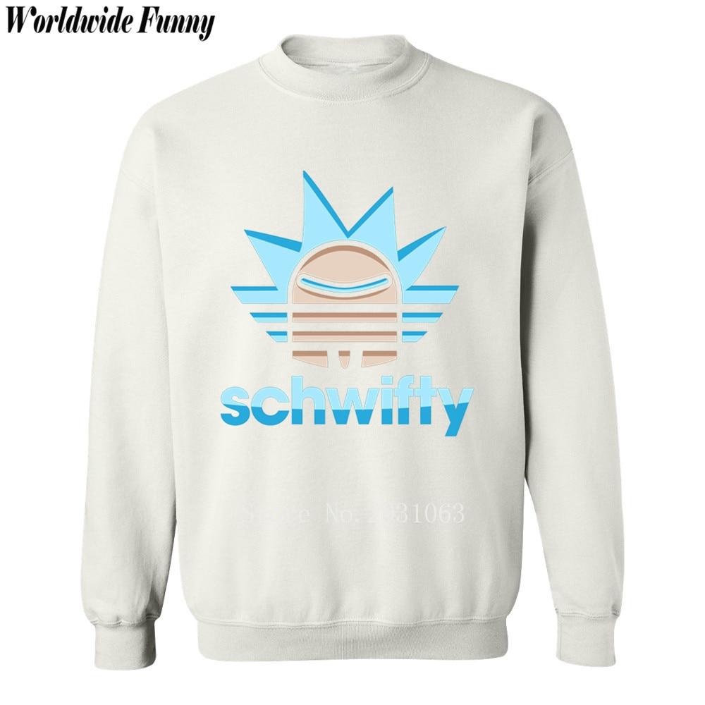 schwifty Rick and Morty Hip Hop sweatshirts long sleeve mens hoodies men hipster tracksuit sweatshirt harajuku homme