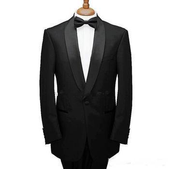 Latest Design Off White Slim Fit Groom Tuxedos Groomsmen Custom Made Shawl Collar Mens Wedding Suits Bridegroom Jacket+Pants+Bow