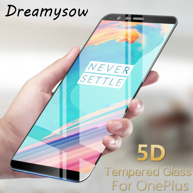 Dreamysow 5D Tempered Glass For Oneplus 5T 5 Full Cover Screen Protector 3D 4D Upgrade Protective Film for One plus 1+ 5 T 1+5