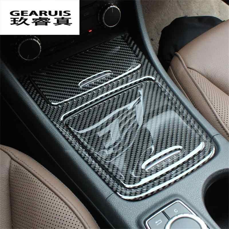 Artículo de decoración de control medio de estilo de coche/caja de almacenamiento lentejuelas accesorios fibra de carbono para Mercedes Benz GLA CLA una clase
