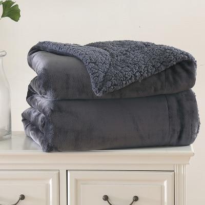 Black Pink Thicken Soft Warm Blanket Coral Blankets Travel Sofa Solid Color Fleece Blankets For Bed Soft Fluffy Warm Cobertor
