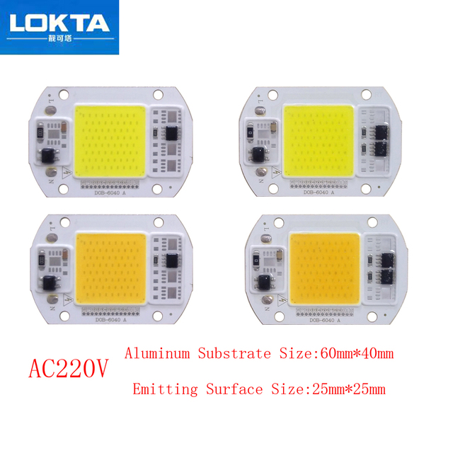 10PCS/LOT COB LED Lamp Chip  15W 25W Bulb 220V Smart IC Driver Cold Warm White light beads for diy Spotlight Floodlight