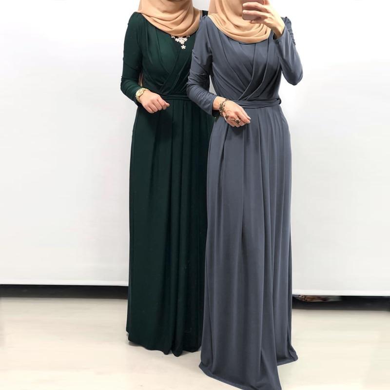 cdcd6ab2c7 De las mujeres de la moda falda cinturón de vestido musulmán de larga  vendaje falda lápiz