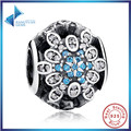 2016 Fashion Hot Sell  Classic Original 925 Sterling Silver Blue Crystals Charm Fit Bracelet Jewelry Wedding Gift Free Shipping
