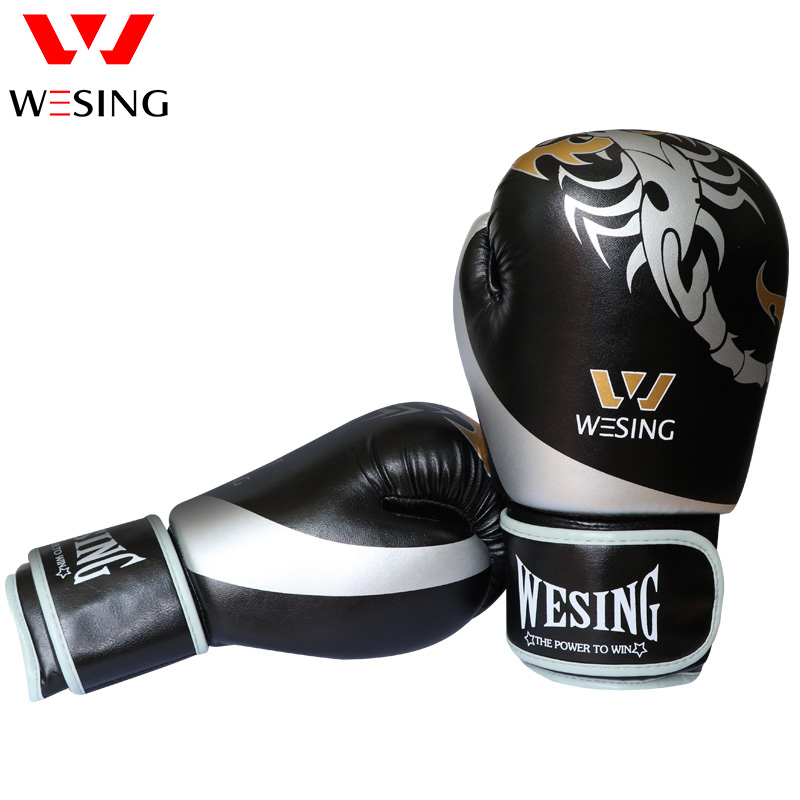2018 NEW STYLE BOXING GLOVES SANDA PUNCH BAG GLOVES Kickboxing Training Gloves Leather guantes de boxeo цена
