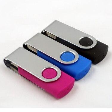 Classic 8GB-32GB Usb 2.0 Stick Pendrive 64GB Flash Drive Cheapest Pen Drive 128GB 512GB 256GB Rotate Metal Swivel Disk On Key