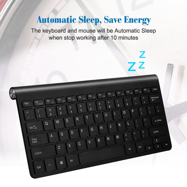 Portable Wireless Keyboard for Mac Notebook Laptop TV box 2.4G Mini Keyboard Mouse Set Office Supplies for IOS Android Win 7 10