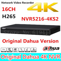 Free Shipping New DAHUA 16CH 1U 4K H 265 1080P NVR Support 2HDD Onvif NVR5216 4KS2