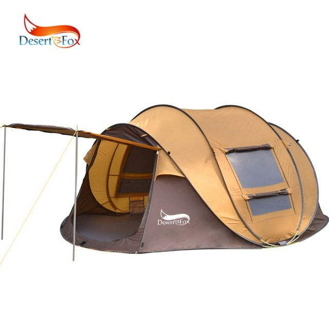 Desert&Fox Automatic Pop-up Tent, 3-4 Person Outdoor Instant Setup Tent 4 Season Waterproof Tent for Hinking, Camping, Traveling