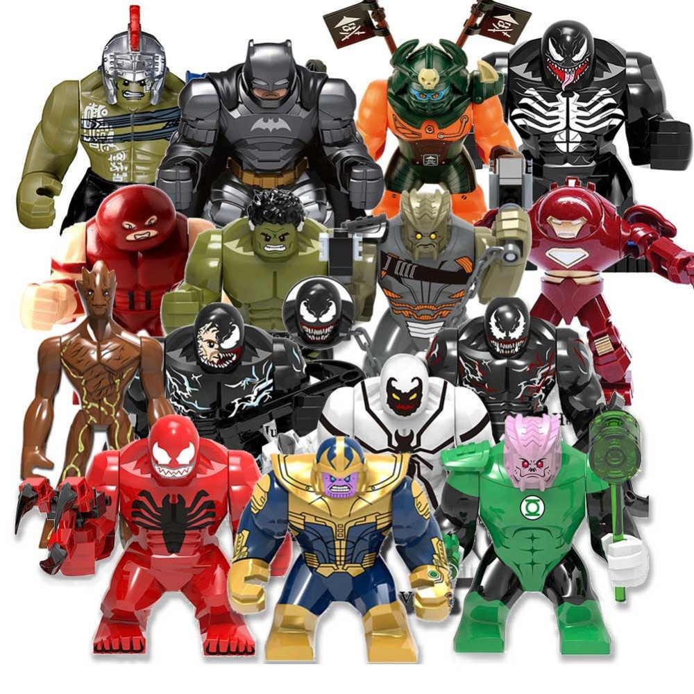 Gigante Grande Bloco de Construção de Thanos Grande Anti Veneno Carnificina Lanterna Verde Figuras Hulk Blocos Compatíveis Toy presente Para As Crianças