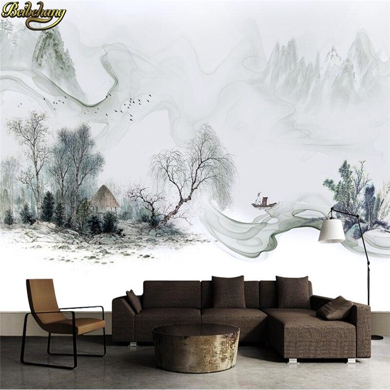 Beibehang Custom Photo Wallpaper Modern Ink Dream Landscape Mural Wallpapers Art Design Bedroom Office Living Room Wall Paper