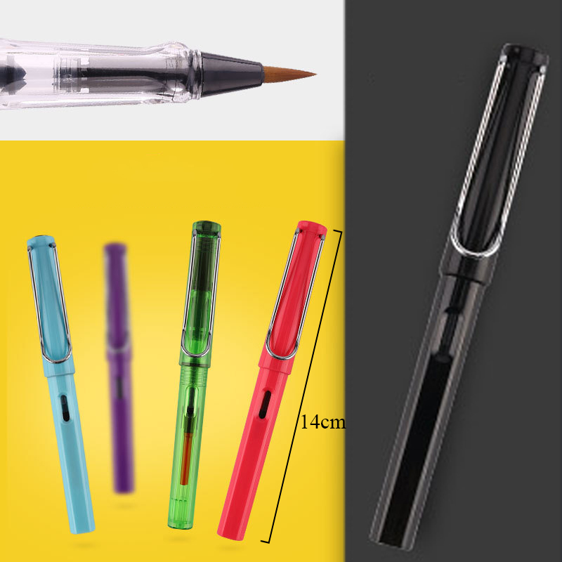 Water Soft Brush Pen 21 Colors Refillable Ink Watercolor Pen For Kids Calligraphy Pen Brush Painting Drawing Creative Papeterie