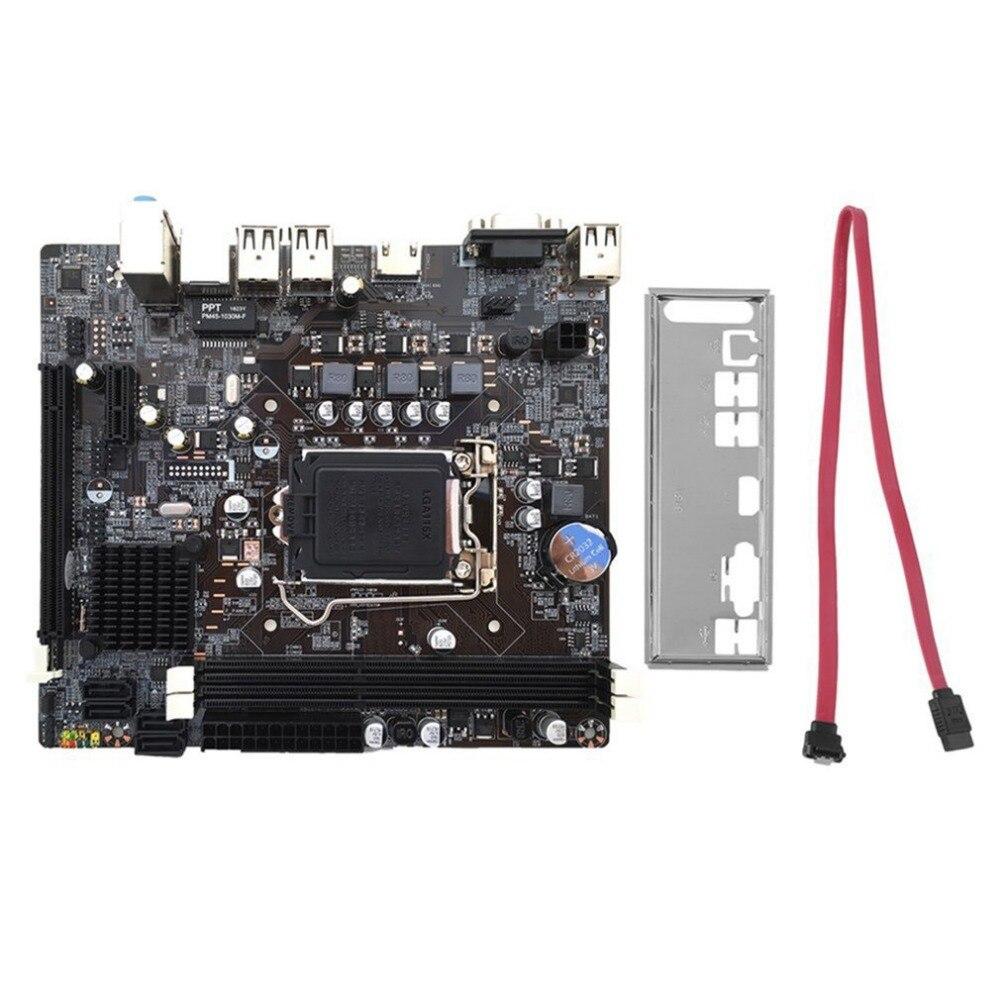 Ordinateur de bureau H61 carte mère 1155 broches CPU Interface mise à niveau USB2.0 DDR3 1600/1333 2 X DDR3 DIMM carte mère