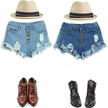 shorts women jeans plus size high waisted vintage girls fashion black button fly boyfriend style streetwear