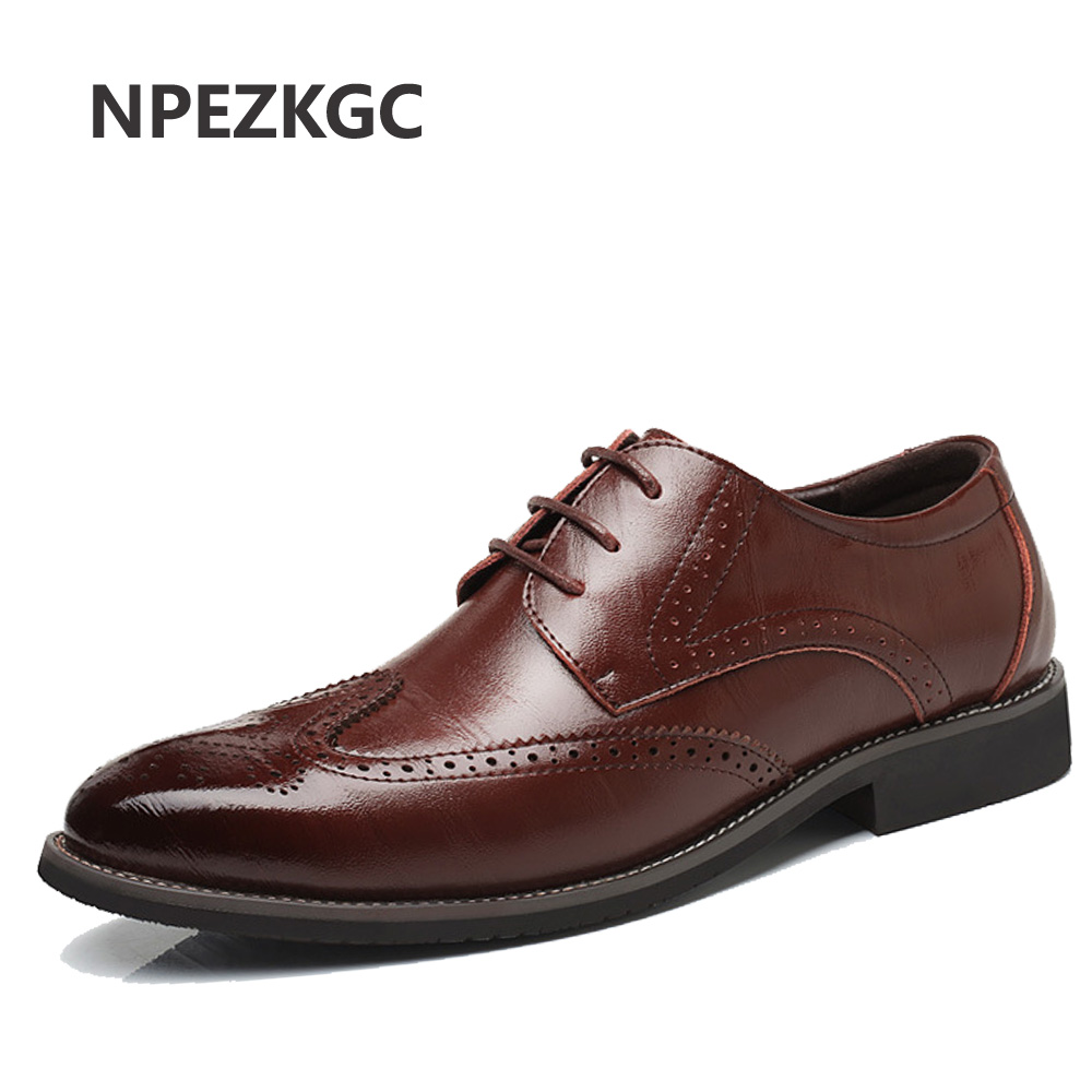 NPEZKGC Genuine Leather Mens Dress Shoes, High Quality Oxford Shoes For Men, Lace-Up Business Men Shoes, Brand Men Wedding mycolen leather mens dress shoes high quality breathable oxford shoes for men lace up business brand men wedding shoes