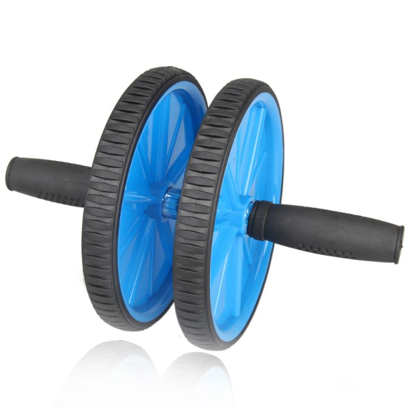 Blue Dual ABS Abdominal Roller Wheel Exerciser Workout Roller Exercise