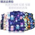 Новорожденных девочек одежда для детей зимний жилет Животных Граффити Толщиной печати теплый жилет малыша жилет девушка костюм детская одежда