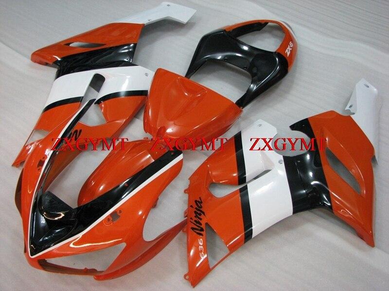 Motorcycle Fairing for ZX6r 636 2005 - 2006 Motorcycle Fairing ZX6r 636 05 Orange Black White Fairing Kits ZX6r 636 2006Motorcycle Fairing for ZX6r 636 2005 - 2006 Motorcycle Fairing ZX6r 636 05 Orange Black White Fairing Kits ZX6r 636 2006
