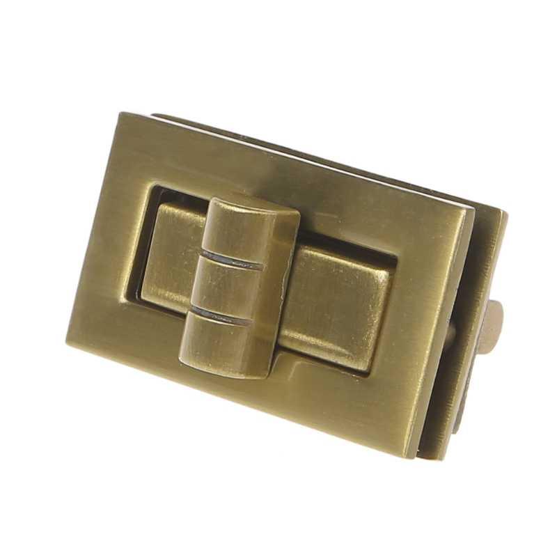 THINKTHENDO 1PC New Metal Clasp Turn Lock Twist Lock for DIY Handbag Craft Bag Purse Hardware 4x2.2cm