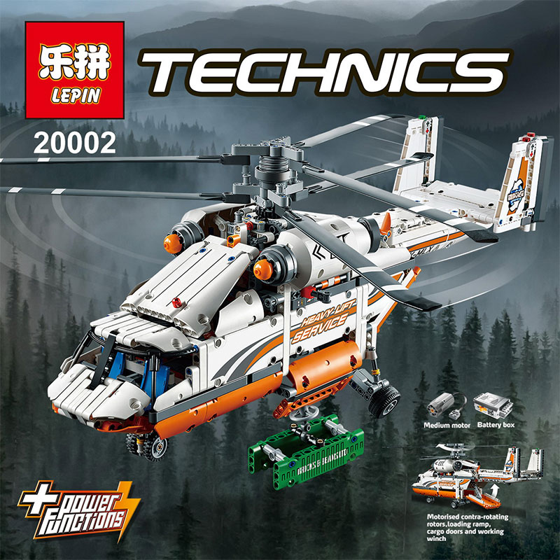 lepin 20002 technology series mechanical group high load helicopter blocks Compatible With legoing 42052 Boy assembling toy new lepin 20002 technology series mechanical group high load helicopter blocks compatible with 42052 boy assembling toys