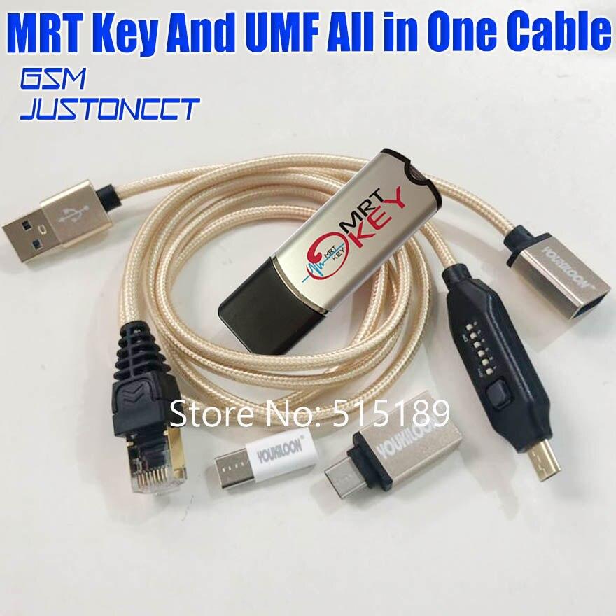 Original MRT Dongle 2 mrt Clave 2 desbloquear Flyme cuenta o quitar la contraseña imei reparación BL desbloquear plenamente activar la versión + UMF cable