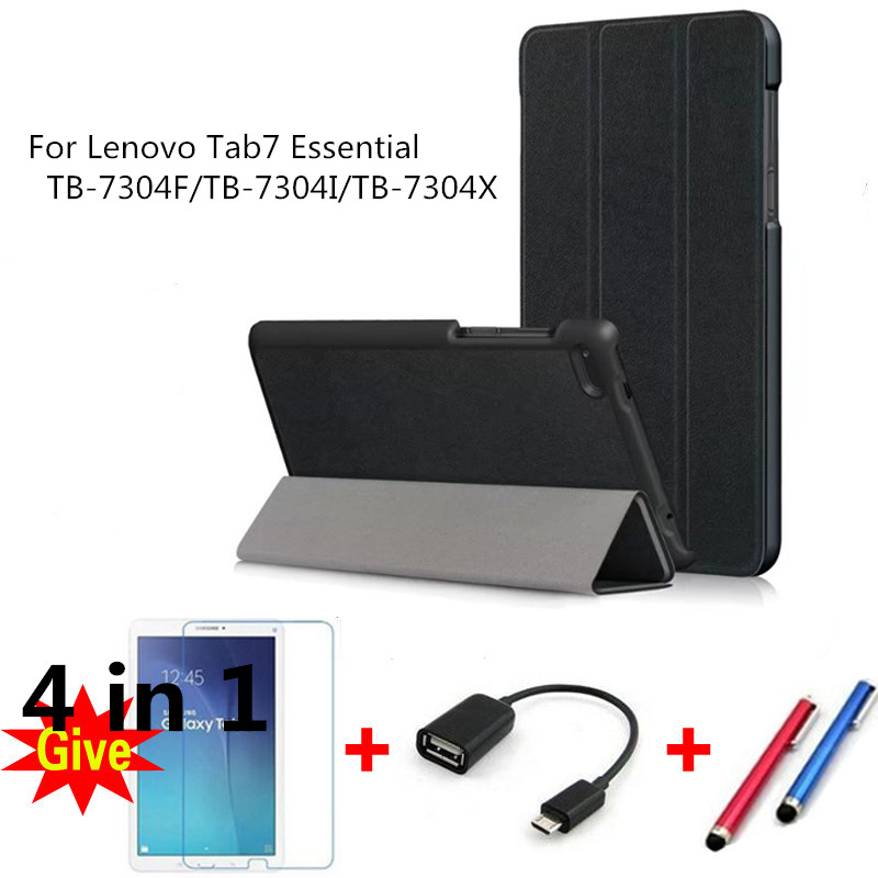 Case for 2017 Lenovo Tab7 Essential PU Leather smart Cases for Lenovo Tab7 Essential TB-7304F/TB-7304I/TB-7304X tablet fundas qosea for lenovo tab 7 essential 2017 tb 7304 7304f 7304i 7304x pu leather smart stand case 7 0 inch tablet pc stand back cover
