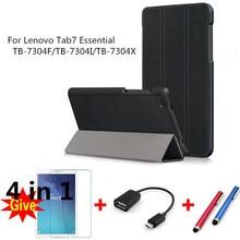лучшая цена Case for 2017 Lenovo Tab7 Essential PU Leather smart Cases for Lenovo Tab7 Essential TB-7304F/TB-7304I/TB-7304X tablet fundas