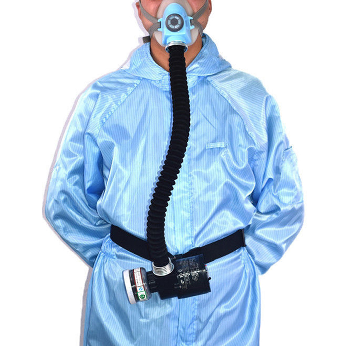 Electric Constant Flow Supplied Air Fed Face Gas Mask Spray Painting Anti Dust Mask Protection Anti-fog Haze industry Respirator 11 in 1 suit 3m 6200 half face mask with 2091 industry paint spray work respirator mask anti dust respirator fliters