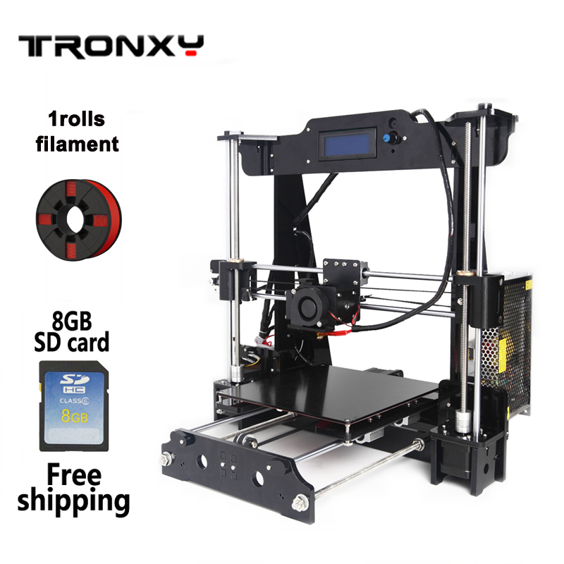 2016 Upgrades 3D Printer DIY kits Marlin firmware with Rotate LCD display 8G SD card and