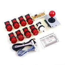 Wholesale Arcade Kits Happ Arcade Stick + Arcade Buttons + USB Encoder To MAME Game & Raspberry Pi 3 Game & MINI Arcade Machine Project